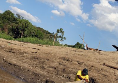 A former miner turned boat captain Gregorio on the Madre Dios river.