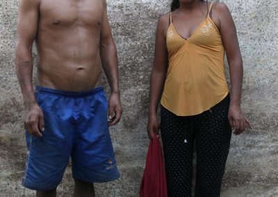 Illegal gold miners Fredy Rios, 22 and Anna Maria Ramirez, 26 at camp.